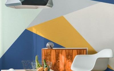 Diseños geométricos en las paredes